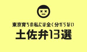 東京育ちの私には全く分からない土佐弁13選